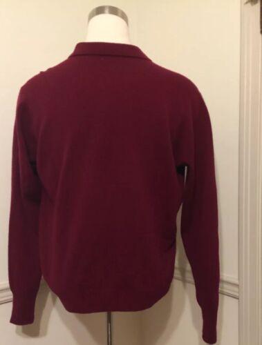 L manica Maglia alto agnello Ralph a s da Lauren uomo a Maglia collo lunga rossa 100 lana di Bq70RBS