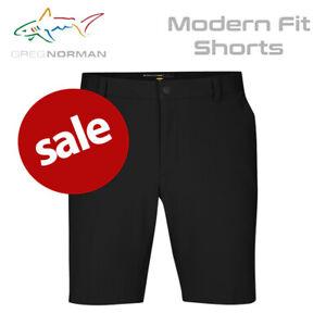 Greg-Norman-Shark-Logo-Modern-Fit-Men-039-s-Golf-Short-Black-NEW-2020-REDUCED