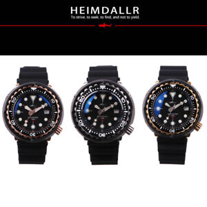 Heimdallr Shark Master PVD Japan NH35A Diver 300M Automatic Watch Tuna 47mm 316L