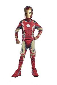 COSTUME-IRON-MAN-AV2-AVENGERS-CLASSIC-Carnevale-Marvel-Tony-Stark-Super-Eroe