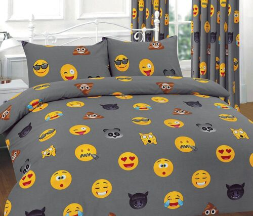 Icon Emoji Duvet Cover Set With Pillow Cases Single Double Super King Curtains