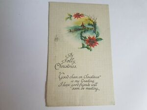 Greeting-Postcard-Vintage-Christmas-A-Jolly