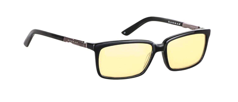 NEW Gunnar HAU-00101-N-A Haus Onyx Frame Computer Eyewear Glasses w  Amber Lens
