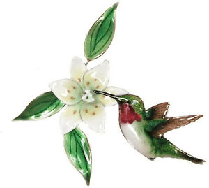 Details About Hummingbird And Wood Lily Metal Bird Wall Art Decor Sculpture By Bovano W442