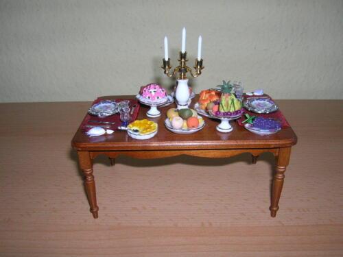 Reutter Porzellan dinnertable decorated DINING TABLE bambole Tube 1:12 1.834//0