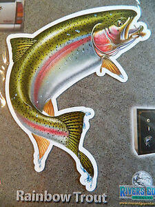 NEW Magnetic Rainbow TROUT Fish 8 X 9 1/2 Auto Truck Car Fly Fishing Rivers Edge