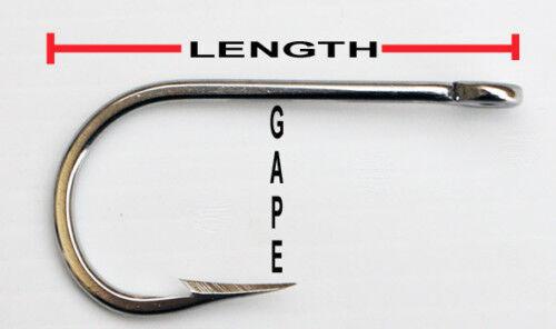 6//0 7691s Stainless Steel Game Fishing Hooks 10 Pack Trolling Hooks
