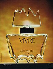 PUBLICITE ADVERTISING 015  1973  VIVRE  parfum femme de MOLYNEUX          300115