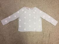 Mini Boden Girls Cotton Aplique Daisy Jumper in Grey Age 9 - 16+ Years (OS2)