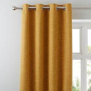 Dunelm-Vermont-Eyelet-Pair-Curtains-228-x-228cm-Mustard-A