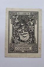 ✒ EX LIBRIS Richard Ashmole Cooper (1874-1946) homme politique - armorié