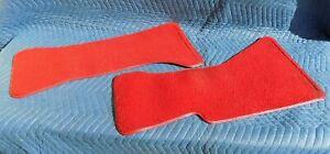 Front-Floor-Matt-Molded-RED-Carpet-SET-C4-1989-Corvette-RH-amp-LH-NICE