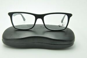 584654d1a8 New Ray Ban RB 7062 Eyeglasses 5197 Matte Black on Green Frames 55mm ...