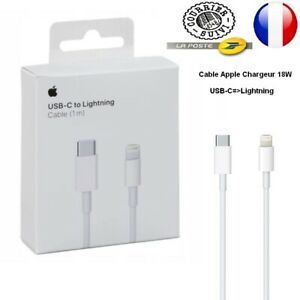 Original Apple Câble  USB C Lightning Chargeur Rapide    iPhone 12 1M