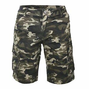 cdbdfe269e48 Caricamento dell'immagine in corso Bermuda-uomo-cargo-mimetico-pantaloni -corti-camouflage-42-