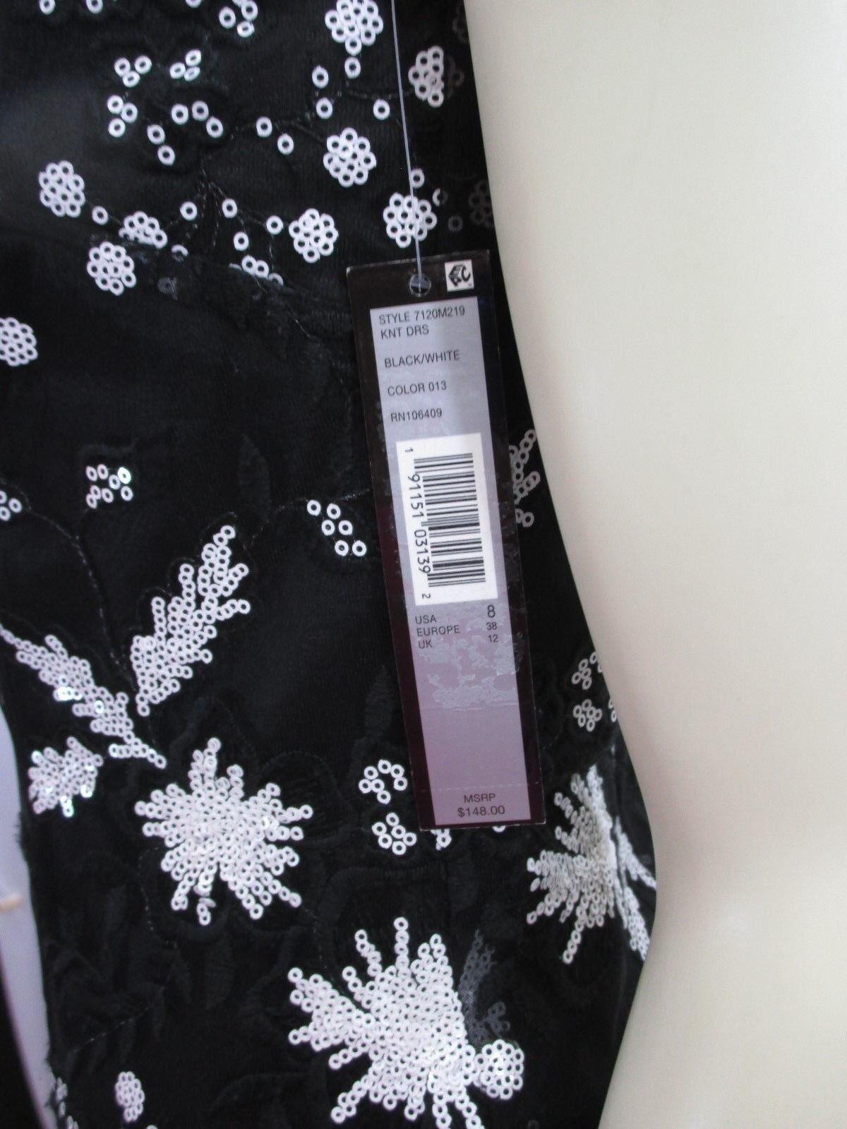 Tahari Schwarz Weißes Kleid Gr. Gr. Gr. UK 8 Neu mit Etiketten | Outlet Store  | Spielzeugwelt, fröhlicher Ozean  | Fuxin  944c66