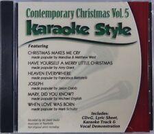 contemporary christmas volume 5 christian karaoke style new cdg daywind 6 songs