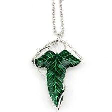 Green Leaf Elven il signore degli anelli di perno SPILLE Collana Catena Ciondolo Gioielli