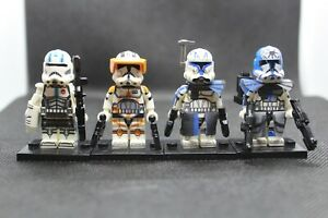 New-Custom-Star-Wars-Captain-Rex-And-Commander-Cody-Minifigures-Echo-and-Jesse