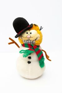 Collectors-Rare-Vintage-Snowman-Garfield-Plush-Daikin-26cm