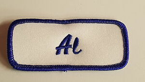 Image is loading Embroidered-Name-Tag-Patch-AL