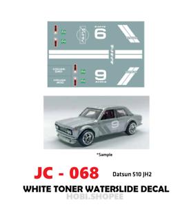 Jc 9068 White Toner Waterslide Decals Datsun 510 Jh2 For Custom 1 64 Hot Wheels Ebay
