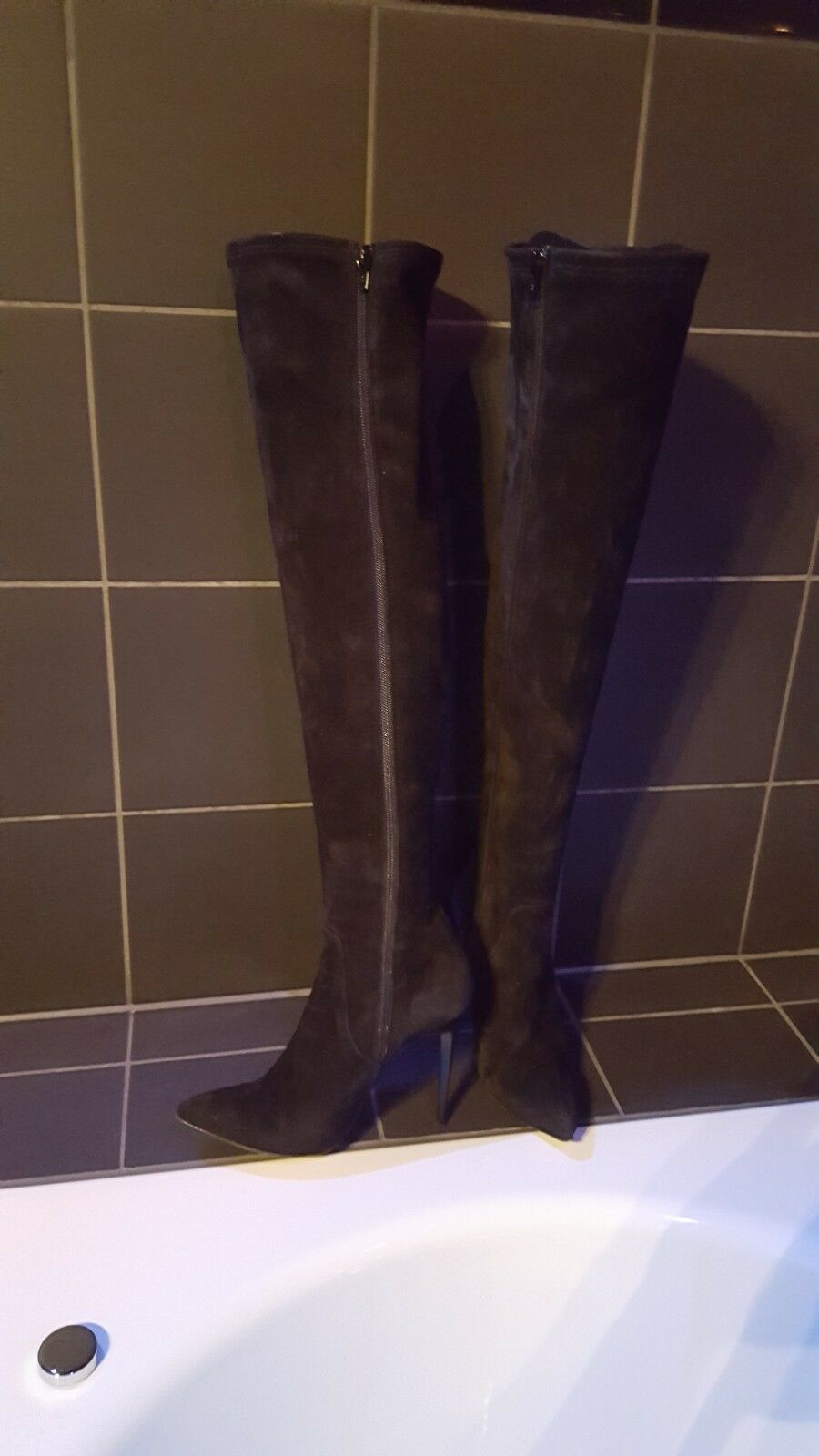 Overknee Stiefel Gr. 37 Biondini Echtleder Echtleder Echtleder Leder 8b0f41