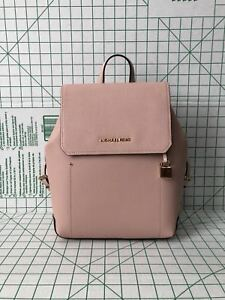 ... rucksack soft pink new work regular article 49ec6 82f8b  spain image is  loading nwt michael kors hayes medium leather backpack book 80a13 80ce5 5ab7e97a3ee95