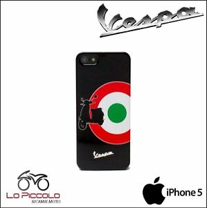 COVER-CUSTODIA-RIGIDA-ORIGINALE-VESPA-NERA-CON-TRICOLORE-PER-IPHONE-5