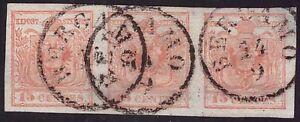 LOMBARDO-VENETO-1852-15-c-n-6-STRISCIA-SPL-BERGAMO-275