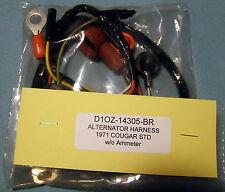 "C70) 1971 Ford Mercury Cougar ""Alternator wiring harness"" w/o amp meter"