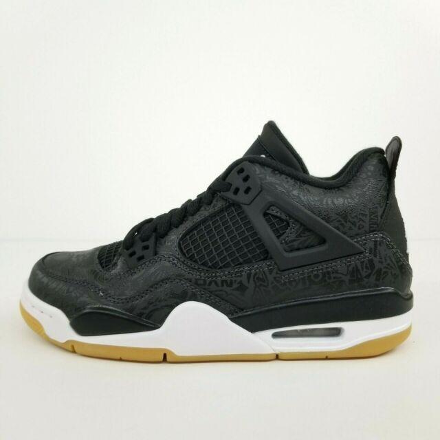 Nike Air Jordan Retro 4 Black Laser GS Sneaker Sz 6 Youth Ci2970 001
