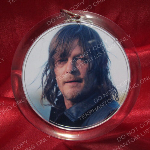 Walking Dead Exclusive Daryl Quotes Charm Keepsake Ornament Keychain Keyring New