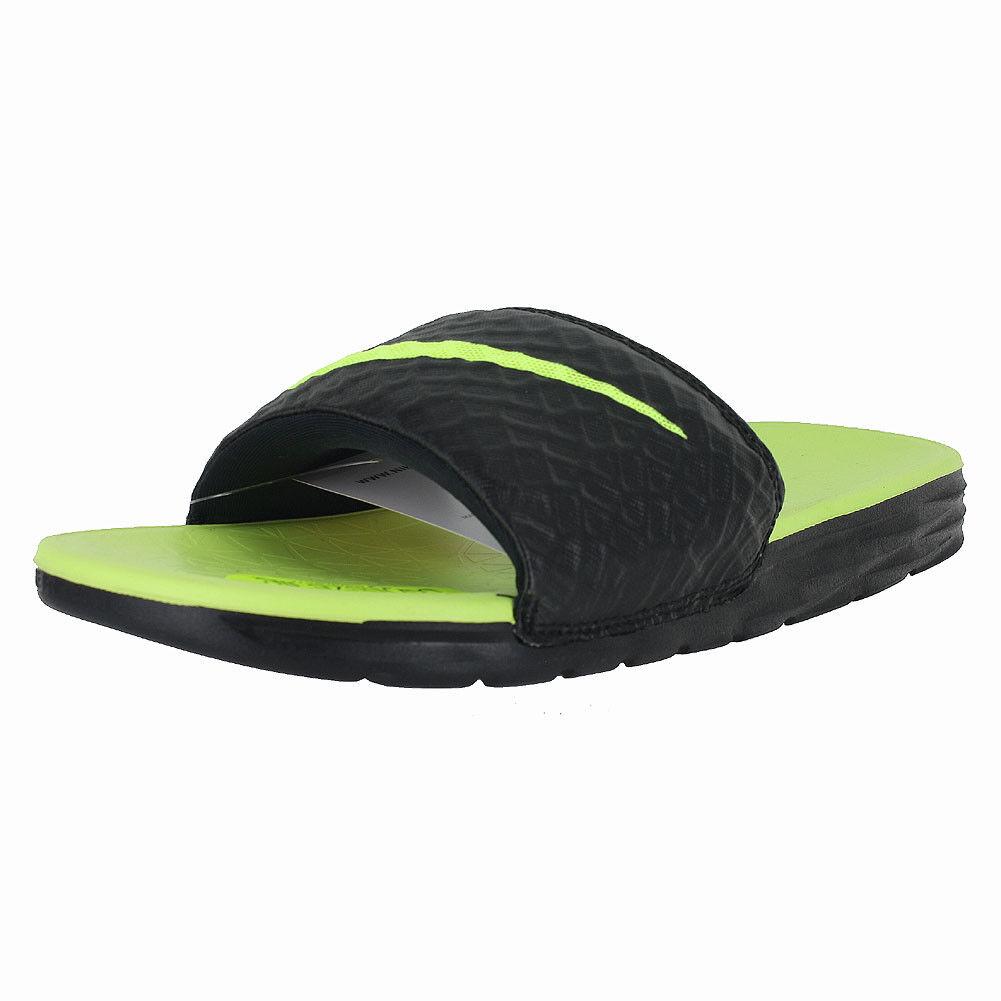 4556e2acf42 Nike Benassi Solarsoft Men s Slide 2 Sandals in Black volt 11 for ...