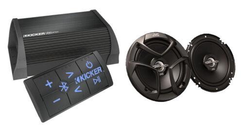 """Kicker 2Channel Bluetooth Amplifier JVC 6.5/"""" Coaxial 2Way Car Audio Speaker Set"""