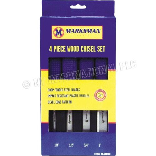 4PC WOOD CHISEL SET  CRV CHROME STEEL CHISELS BRAND NEW IN PURPLE