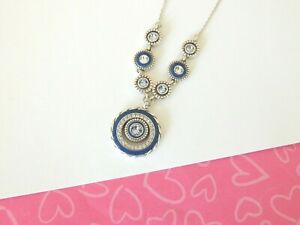 Brighton-Halo-ECLIPSE-Blue-Reversible-Silver-Necklace-NEW-TAGS-78