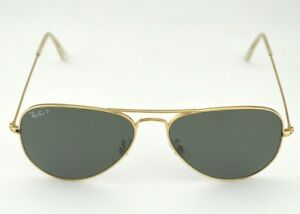 1a1d05aadb Ray Ban RB3025 Aviator Classic 001 58 Gold Frame Polarized Green ...