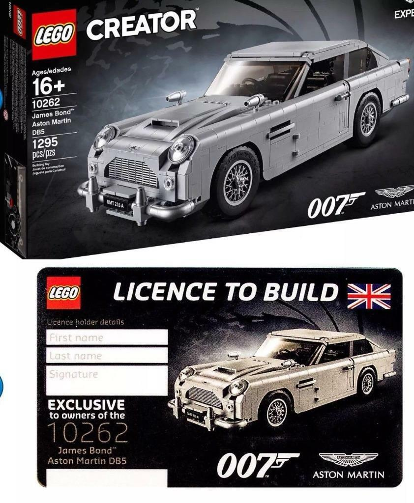 LEGO 10262 James Bond Aston Martin DB5 with License To Build, In-Hand NEW Sealed