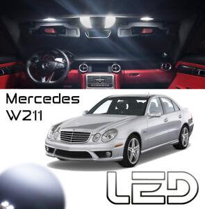 Mercedes-Classe-E-W211-12-Ampoules-led-Blanc-Plafonnier-habitacle-plancher-pieds