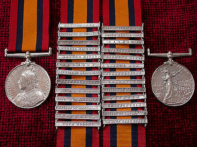 QSA QUEENS SOUTH AFRICA MEDAL RIBBON BAR CLASP DIAMOND HILL BOER WAR CAMPAIGN