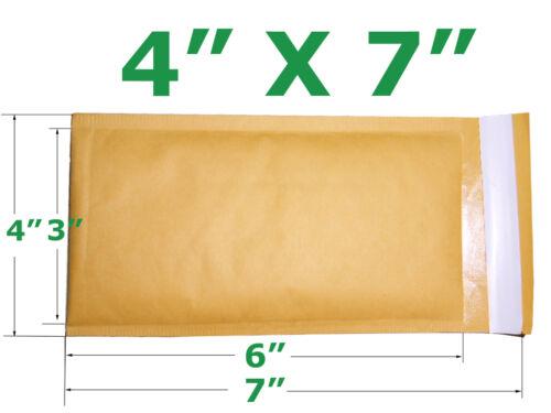 50 pack 4 x 7 Kraft Bubble Mailer Padded Envelopes #000