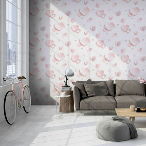 Diy Materials 3d Hearts Wallpaper Metallic Glitter Pink Girls Room Luxury Muriva Children S Credify One