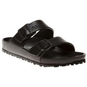 New-Womens-Birkenstock-Black-Arizona-Eva-Sandals-Slides-Buckle-Slip-On