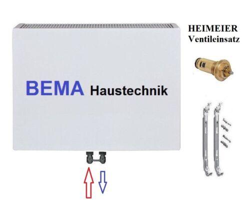 PLAN Ventilheizkörper mit Mittelanschluss Typ 22 BH 600 x BL 900 mm