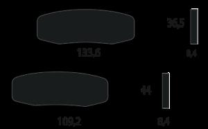 Pastiglia freno posteriore 43082 1232 KAWASAKI ZR-7 750 750 1999 left