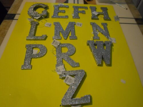 New Christams Sparkly Ornment Letter  A B C D E F G H  J K L M N O P Q R T Z K M