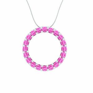 2-00-CT-Solitaire-Round-Shape-Pink-Sapphire-Charm-Pendant-14k-White-Gold-GP-Gift
