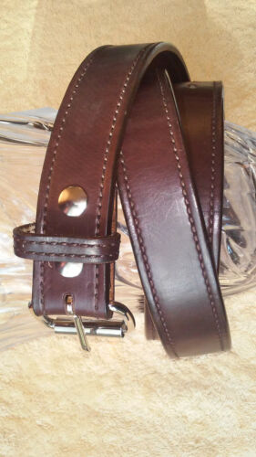 BigFoot Gun Belts Brown Leather Belt, Gunbelt Size