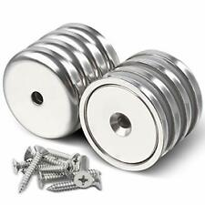 Diymag Neodymium Magnets With Hole 100lbs Heavy Duty Round Base Cup Magnets F